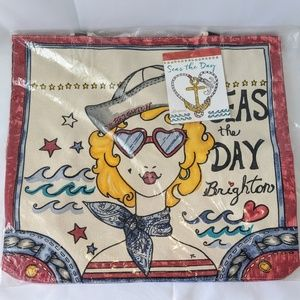 Seas the Day canvas tote bad by Brighton Beach